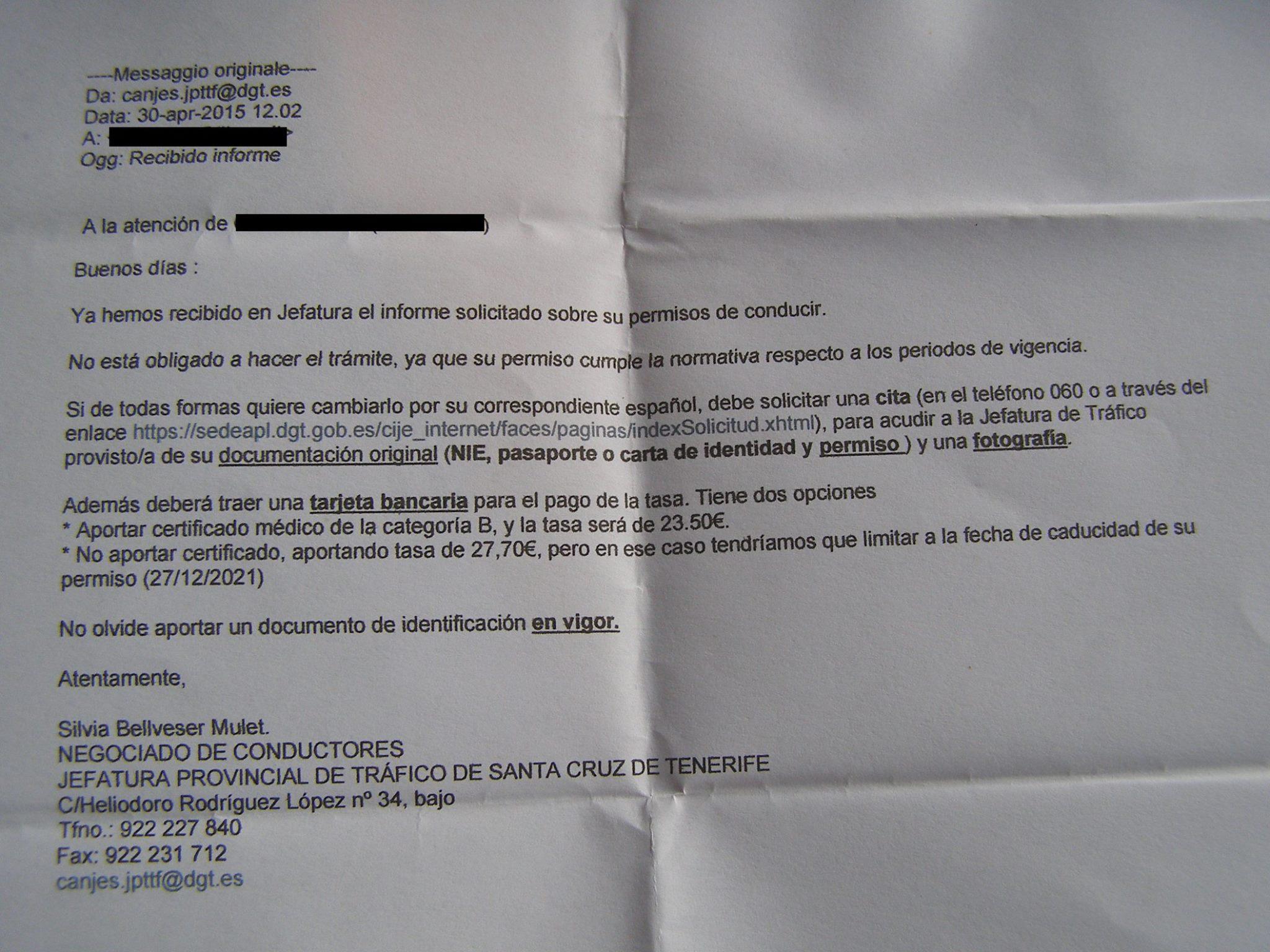Patente di guida italiana in Spagna
