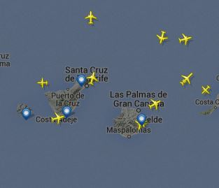 Traffico aereo in tempo reale